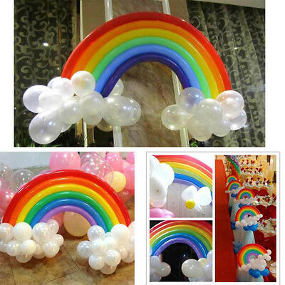 25pcs Magic Long Couleurs Latex Ballons Arc En Ciel Anniversaire Party Mariage