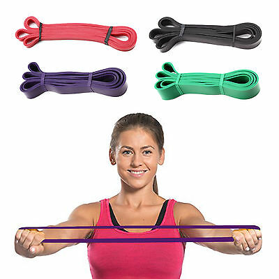 Fitnessbänder 4er-Set Gymnastikband Fitnessband Rubber Band Latexband 4 Level