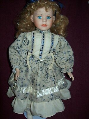 Beautiful Porcelain Victorian Doll - 17 Inches Tall - Very Good Condition #96010