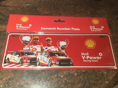 Shell  V Power Racing Team Novelty Number Plate