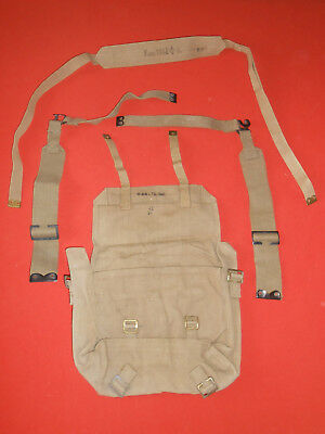 G.britain Army : 1941 Wwii -Small Backpack Haversack  & 2 L Straps ,wwii