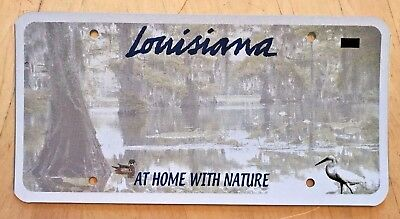 Louisiana 3M Blank  Pre-Production Prototype License Plate At Home With Nature