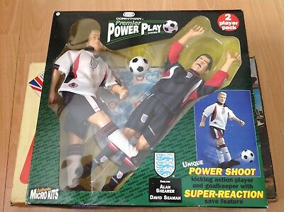 Vintage Corinthian Power Play Boxed England Shearer And Seaman Collectible -BNIB
