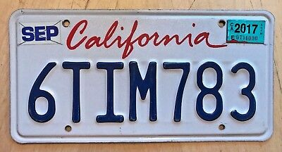 "California Passenger Auto License Plate "" 6 Tim 783 "" Timmy Timothy"
