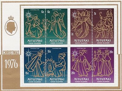 AITUTAKI #135-142b MNH NATIVITY SCENCES SOUVENIR SHEET