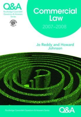 Q&A Commercial Law 2007-2008 (Questions and Answ... by Johnson, Howard Paperback