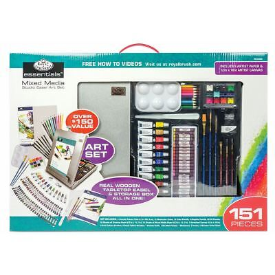 artists easel set mixed media 151pc acrylic oil pastel
