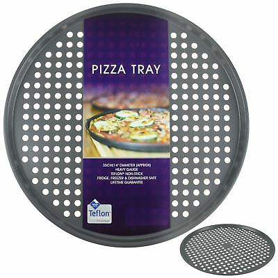 Large Carbon Steel Teflon Silicone Non Stick Oven Pizza Tray Dish Pan Kitchen