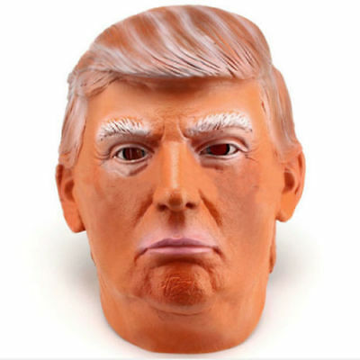 Donald Trump Costume Mask Halloween Realistic Latex Masquerade Fancy Dress Mask