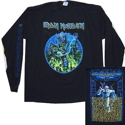 Iron Maiden Somewhere Sbit 2008 Tour Long Sleeve Shirt Xl Nos New Official