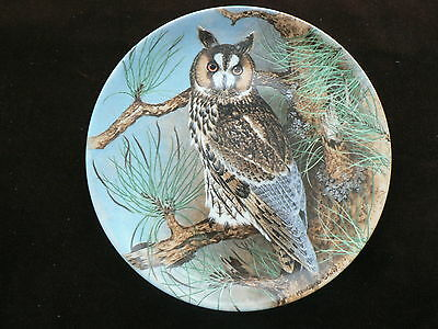 Coalport Collector Plate: Long-Eared Owl, Bird