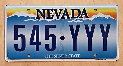 """Nevada  Trippple  Letter Y  Passenger Auto License Plate """" 545 Yyy """" Nv  Y's Guy"""