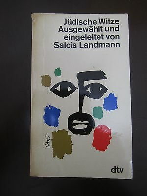 JEWISH  JOKES ,SELECTED & INITIATED  by S.LANDMANN,269pp,GERMANY,1969. 1cs2378