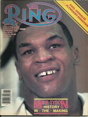 RING MAGAZINE: 1986 November (Mike Tyson to front cover), superb/clean!