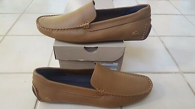 40b3b303c83 Lacoste Piloter 117 1 Men s Casual Leather Loafer Shoes US9 UK8 EUR42 TAN