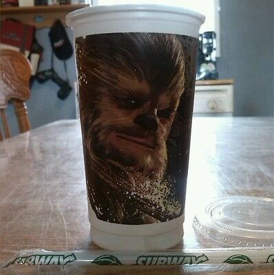 STAR WARS THE FORCE AWAKENS CHEWBACCA 5 # OF 6,New Subway CUP,Limited Edition!