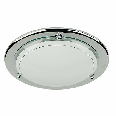 Half Circular Ceiling Light Chrome 60W
