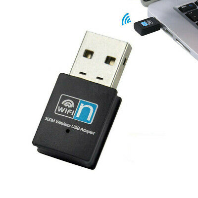 USB Wireless N WiFi Adapter Dongle Network LAN Card 802.11n 300Mbps Windows10 AU