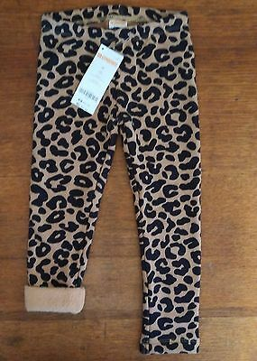 NWT Gymboree Outlet Girls Leopard Print Warm and Fuzzy Leggings Size 3T