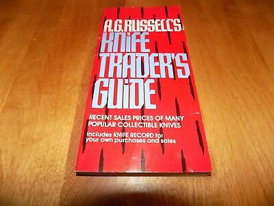 A.G. RUSSELL'S KNIFE TRADER'S GUIDE Pocket Blade Collector Knives Rare 1991 Book