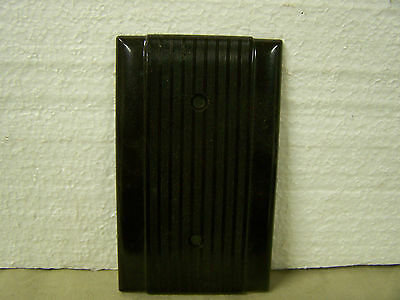 Vintage Blank Cover Plate Ribbed w/Smooth Edges Hubbell #91121 Brown Made in USA