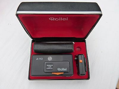 Rollei A110 Camera, Flash Cube Adapter, Carry Case, In Original Case