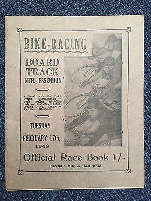 1948 North Essendon Cycling Programme Syd Patterson
