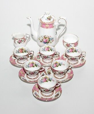 Royal Albert Lady Carlyle, Coffee Set Including Coffee Pot, 2nd Quality.