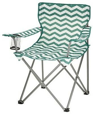 NEW Tesco Lightweight Folding Chair Camping Fesitval Fishing - Teal/White