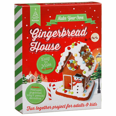Make Your Own Small Gingerbread House Festive Family Kids Craft Christmas Gift