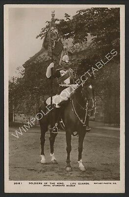 Life Guards, Soldiers of the King, 1908, Rotary Photo. RP Postcard (3624)