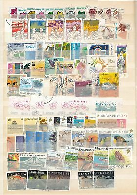 SINGAPORE Used Collection Incl.Wildlife Ships (Appx 200+Items) AU9481