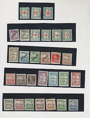 SLOVENIA, HUNGARY  DOBROVNIK local issue forgerys 29 stamps ,hinged #