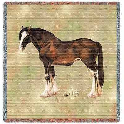 Lap Square Blanket - Clydesdale II by Robert May 2378
