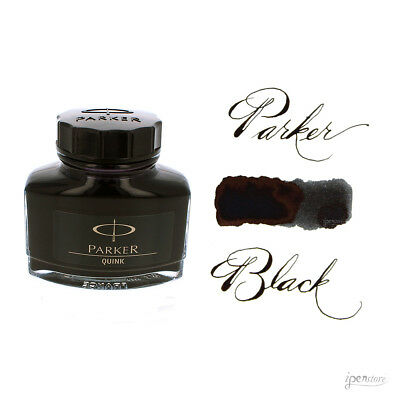 Parker 2 ounce Bottle Quink Fountain Pen Ink, Black