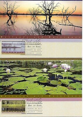 Australia 1992 Wetlands & Waterways Postcards with first day cancels