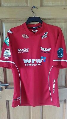 Scarlets Wales Official Kooga Rugby Union Shirt Size Medium