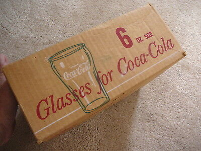 COCA COLA COKE - 11 ORIGINAL 1960s SODA FOUNTAIN 6 OZ GLASSES -  NRFB STAR MARK