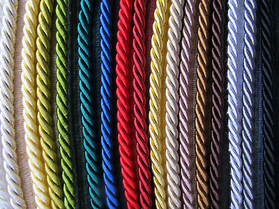 8mm THICK SILKY FLANGED FURNISHING CORD Quality Piping for Upholstery & Cushions