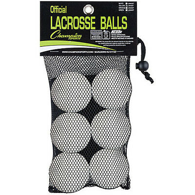 Champion Sports Official Lacrosse Ball-6-Pack