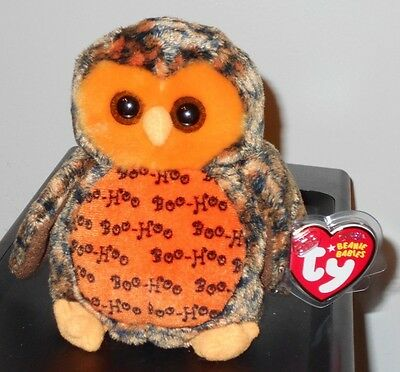 Ty Beanie Baby ~ BOO WHO? the Halloween Owl (Hallmark Exclusive) ~ MWMTS