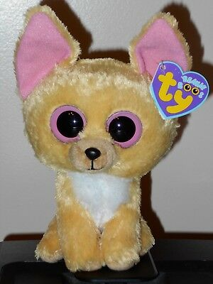 """NMT* Ty Beanie Boos ~ NACHO the 6"""" Chihuahua Dog ~ MINT with NEAR MINT TAG"""