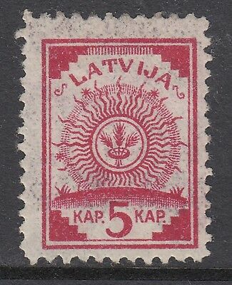 LATVIA 1919 5k ARMS, Printed Both Sides, Mint Never Hinged