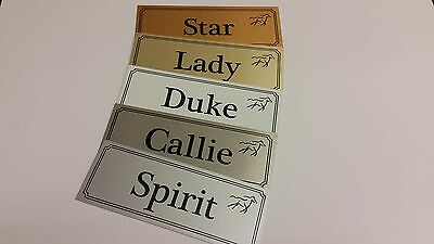 Personalised Horse Name Plaque For Stable Door/Trailer