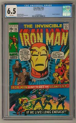 Iron Man #34 CGC 6.5 (W)  Buscema Cover Heck and Esposito Art