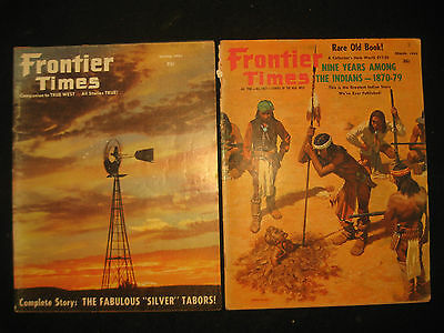 2 Vintage FRONTIER TIMES Magazine, Spring 1962 & March 1963, Western Stories