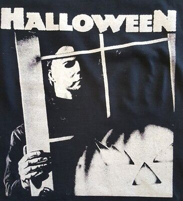 Halloween Michael Myers Cult Classic Horror Film Movie Black Canvas Back Patch