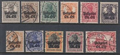 LATVIA 1916-18 GERMAN OCCUPATION, set ex only cheap 50pf, USED