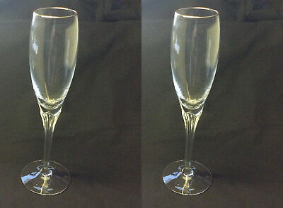Pair of Lenox ERICA Champagne Flutes