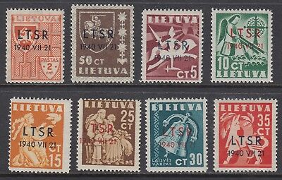 LITHUANIA 1940 RUSSIAN OCCUPATION set of 8, Mint Never Hinged